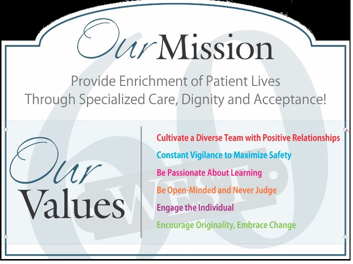 60 West and SecureCare Options Mission Statement and Values Statement