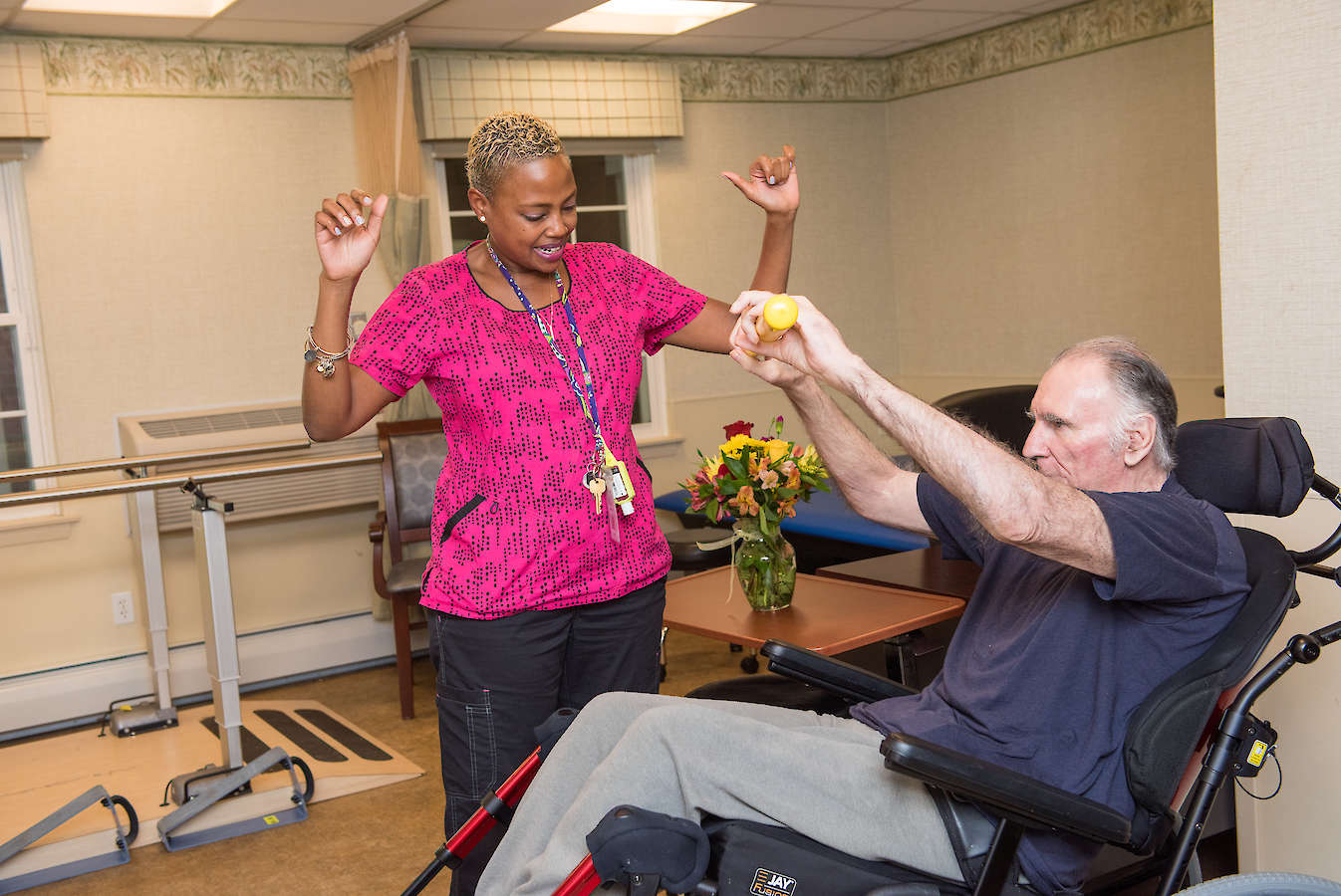 Physical Occupational Speech Therapy, One on One, Wheelchair bound, mobility, 60 West in Rocky Hill